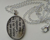 "SALE. To Kill a Mockingbird Necklace.  ""Atticus, Certainly."" Vintage Bookpage and Mockingbird. OOAK"