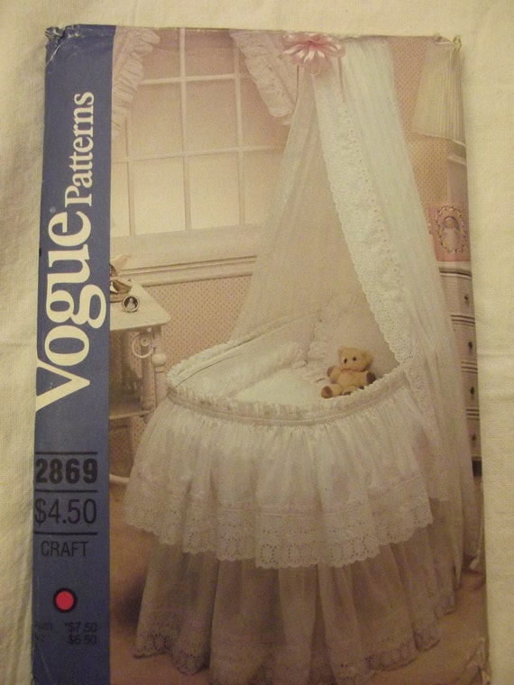 Vintage Sewing Pattern For Babys Bassinet Accessories Vogue