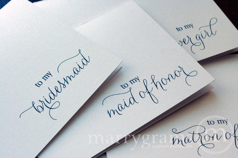 letters to mom example bridesmaid thank you wedding note cards bridesmaid 1469
