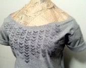 FREE SHIPPING, Chevron, Hipster Style,  Neckline Off shoulder Tshirt (women, teen girl)