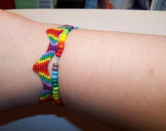 rainbow zigzag friendship bracelet