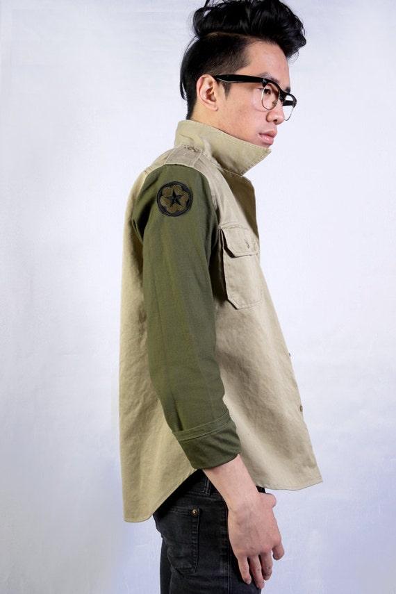 Retro Two-Style Military Shirt