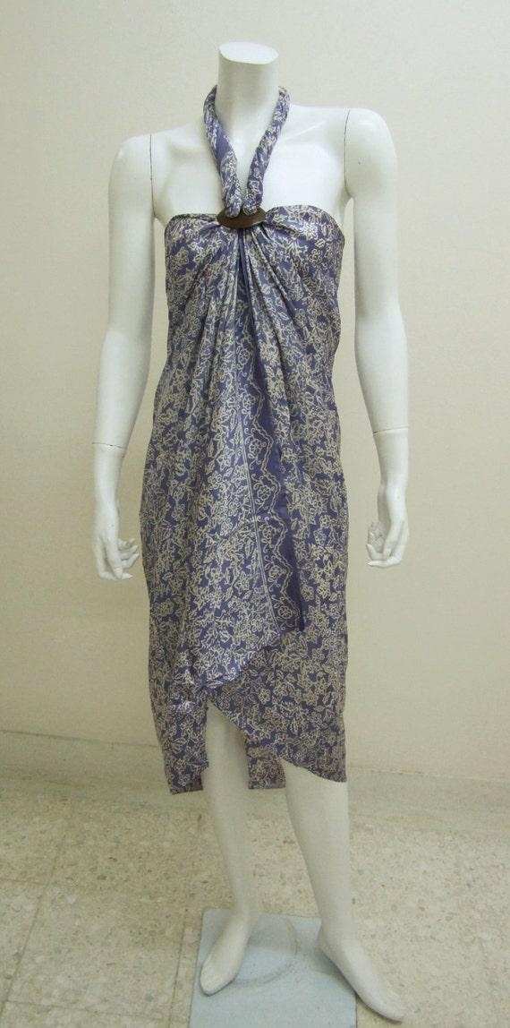 Silk Batik Sarong - Lovely Lavender