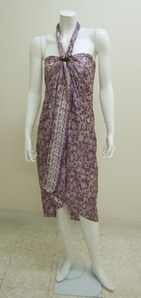 Silk Batik Sarong - Precious Purple