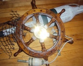 Nautical Wooden Ship's Wheel 12 in - 1 Reserved for Sandra