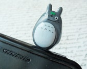 Totoro(double faced) earphone plug - GRAY