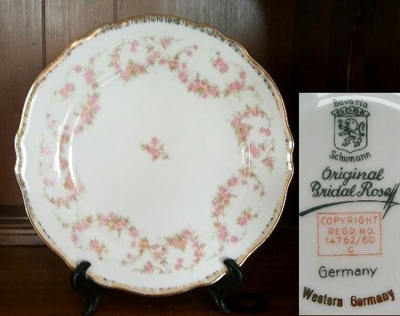 ORIGINAL BRIDAL ROSE Bread & Butter Plate by Schumann Bavaria