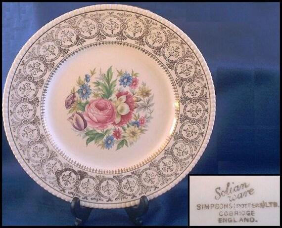 Solian Ware Simpson Potteries LTD.Plate 3125