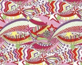 Liberty of London Fat Eighth 'My Little Star', orange, pink and yellow shooting star Liberty print