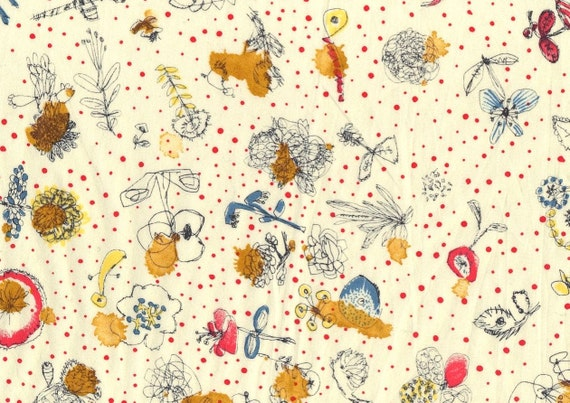 Memories of Rain,watercolour effect polka dot Liberty print tana lawn