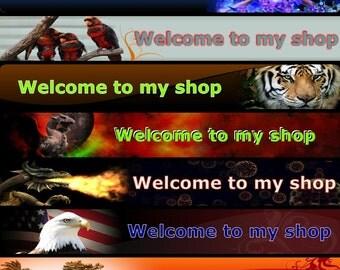 custom shop banner