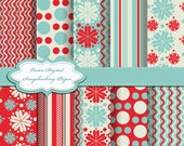 Cute Flower Digital Papers for scrapbooking, card making, Invites, photo cards (P66)