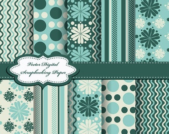 Cute Flower Digital Papers for scrapbooking, card making, Invites, photo cards (P70)