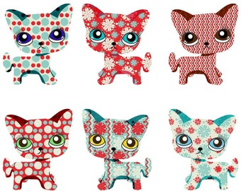 SALE - Cute Christmas Kitten Clip Art for scrapbooking, card making, Invites, photo cards (CA14)