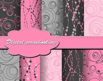 Cute Digital Papers for scrapbooking, card making, Invites, photo cards (P87)