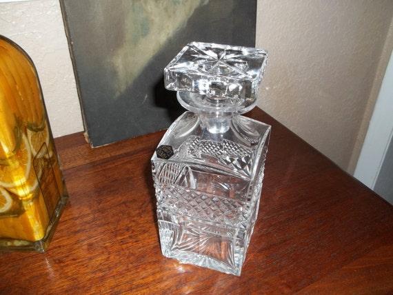 Reserved Diamond Cut Crystal Liquor Decanter Saint Louis