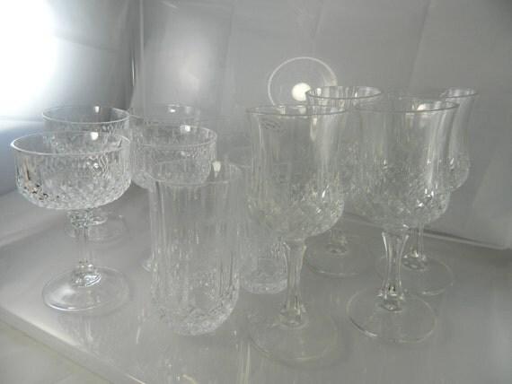 Vintage Crystal Stemware 24 Lead Crystal