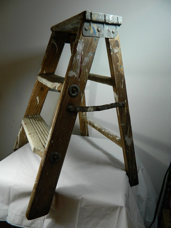 Vintage Ladder Wooden Step Ladder Decorative Rustic Wedding