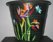 Planter - Tall Tropical, Bird of Paradise