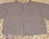 Knit Baby Sweater Light Brown