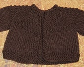 Knit Baby Sweater Brown
