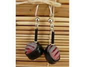 Mackerel in Seaweed Sushi Earrings
