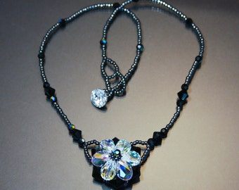 Necklace Crystal Flower