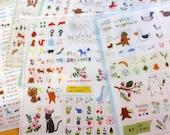 Deco Translucent Sticker Set - tofeenut deco sticker - 6 sheets