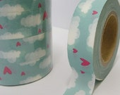 Heart in the Sky - Japanese Washi Masking Tape - 11 yards