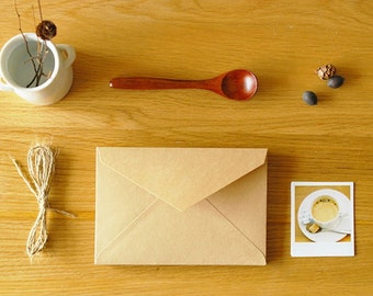 Envelope Set - Kraft Paper - 4.3in x 6.3in - 5 Pcs - Triangle Seal