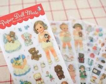 Translucent Sticker Set - Paper Doll Mate - 6 Sheets