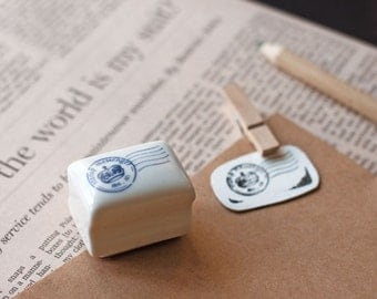 Ceramics Rubber Stamp Set - Postmark - 1 Stamp and 1 Ink Pad