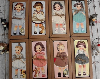 Bookmark Set - Beautiful Doll - 28-30 Sheets in different patterns