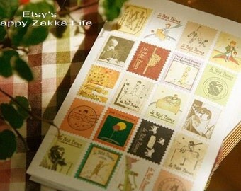 Le Petit Prince Stamp Stickers - Paper Deco Sticker Set - 4 Sheets in different patterns