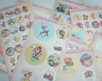 Paper Deco Sticker Set - Vintage Lovely Child Sticker - Vol 1 - 10 Sheets