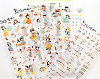 Translucent Sticker Set - Heeta Sticker - 6 Sheets