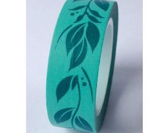 Japanese Washi Masking Tape - Leaves - 11 Yards