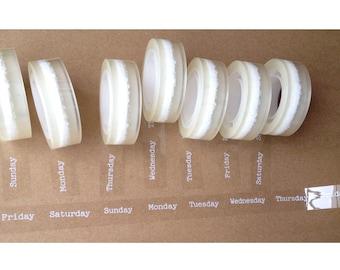 Translucent Sticker Tape - A Week - 11 yards