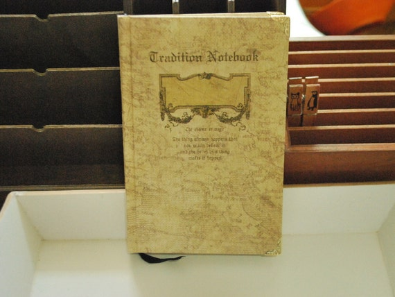 Vintage Notebook - Ship Log 02 - Middle Age Style - Illustration on the inside pages