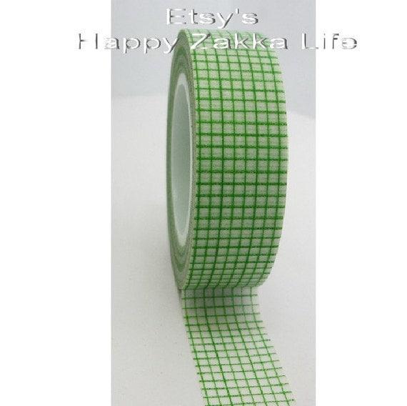 Green Bars - Japanese Washi Masking Tape -  16 Yards