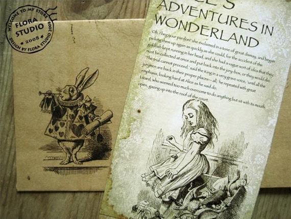 Postcard Set - Alice in Wonderland - 20 Sheets
