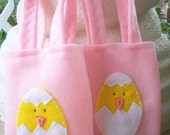 HAPPY EASTER / Felt party bag  /Set of 6 Party favor/.perfect for chocolate eggs and more/ easter supplies