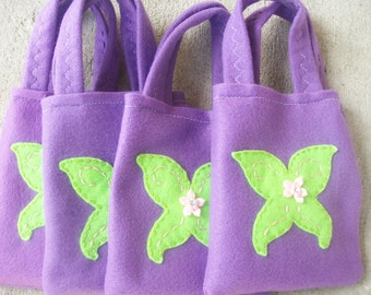 TINKERBELL/NEVERLAND/felt Party bags /Set of 4 sweet and funny party favor