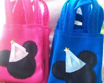 MICKEY & MINNIE PARTY/  Felt  Party bags/ Set of 10 Party bags