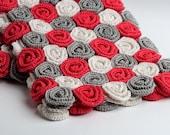 Crochet Pattern Rose Field Baby Blanket PDF Instant Download
