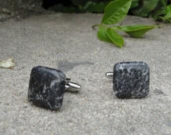 Black Marble Cufflinks