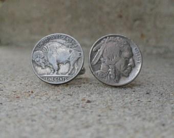 Buffalo Nickel / Indian Head Cufflinks