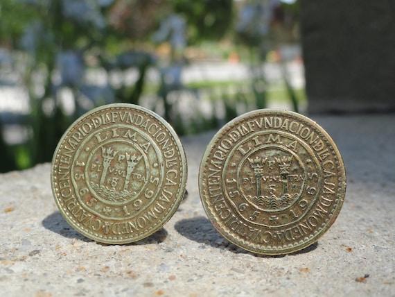 Peruvian Coin Cufflinks