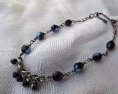 Clearance/Black Czech Wirewrapped Bracelet