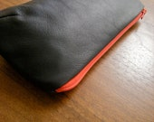 Leather Pouch - LOU Loki Bag in Navy Blue Lambskin - RESERVED for LL